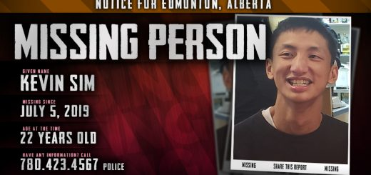 Kevin Sim Missing Person Edmonton Alberta Canada Poster